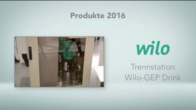 Embedded thumbnail for Wilo: Trennstation Wilo-GEP Drink